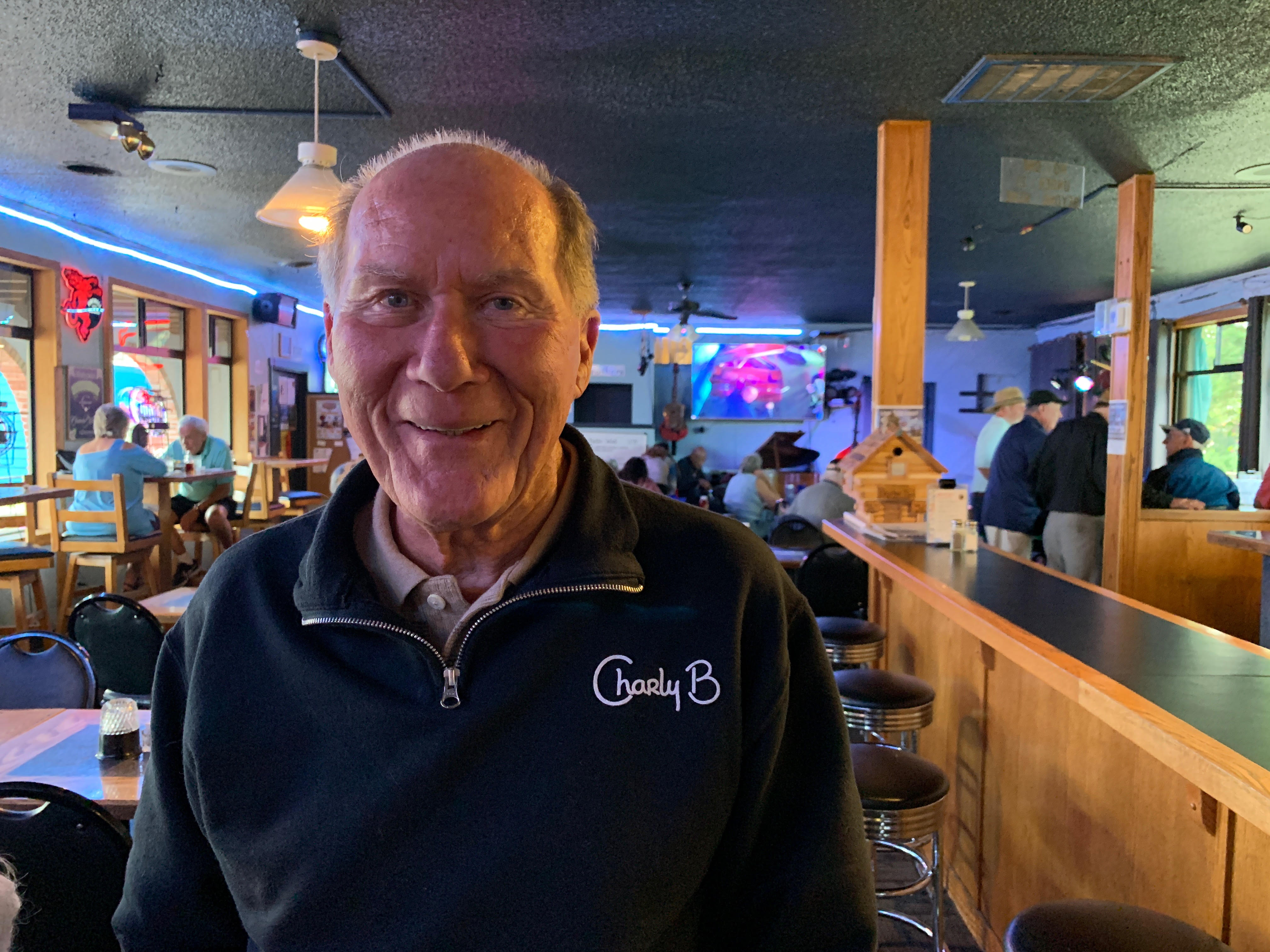 Pictured is Bremertonian Dave Hill, spotted at Brother Don's the other night. He and his wife Nancy Hill own several Charly B sweatshirts.