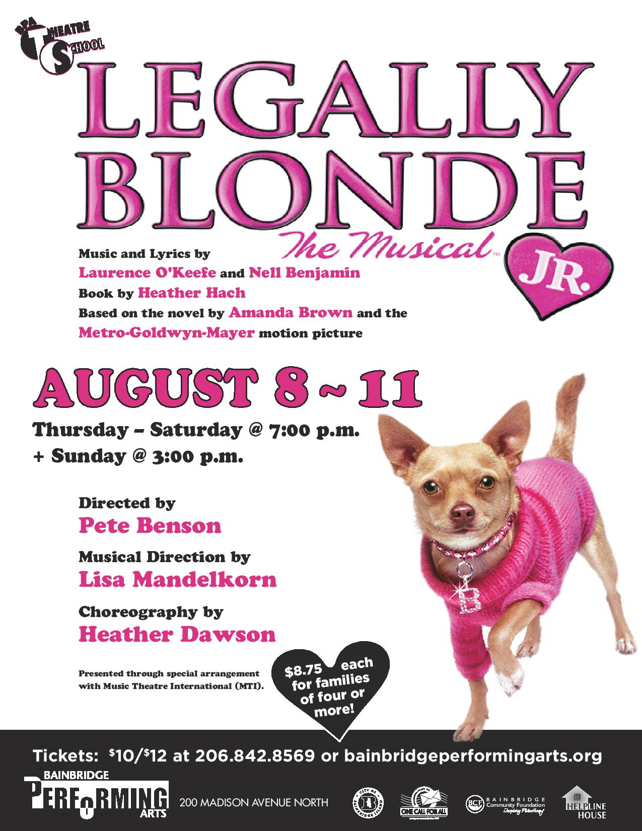 Legally Blond the Musical, Jr.