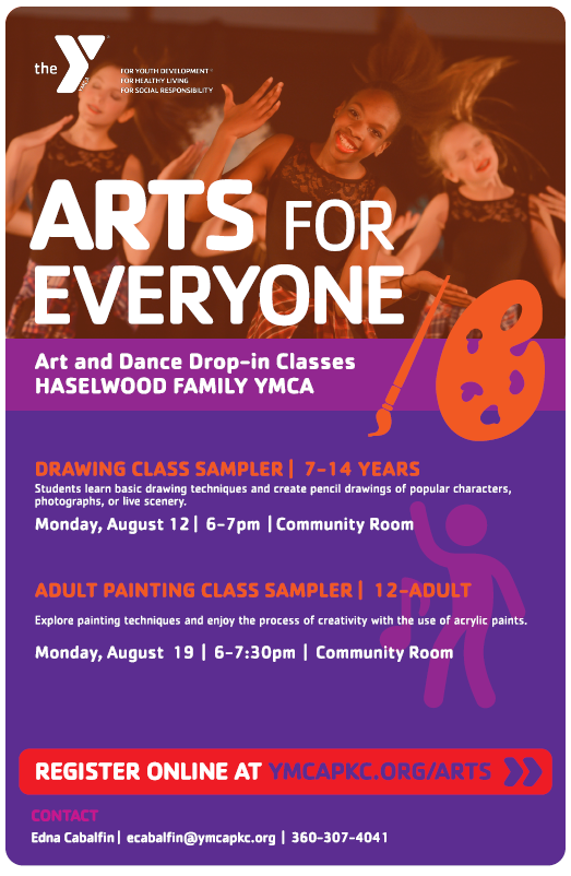 Adult Painting Class at the Haselwood Family YMCA.