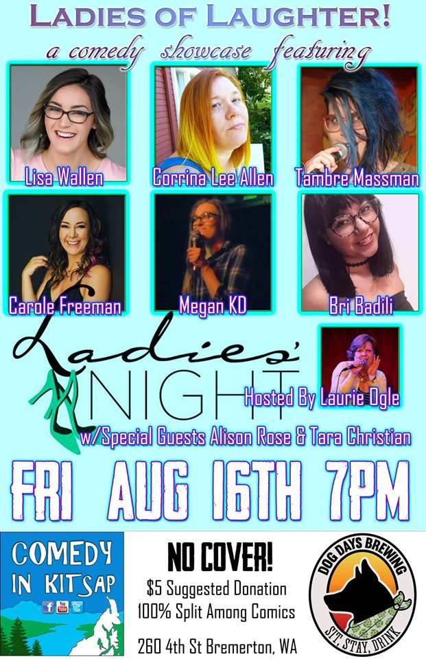 Ladies of Laughter Comedy in Kitsap